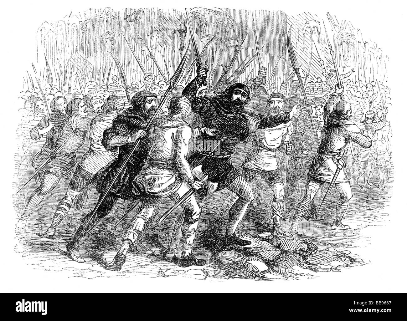 Revolt of the Citizens of London against the Empress Matilda AD1141 Stock Photo