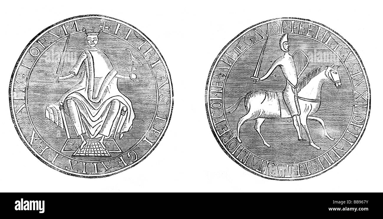 The Great Seal of King Henry II of England Stock Photo