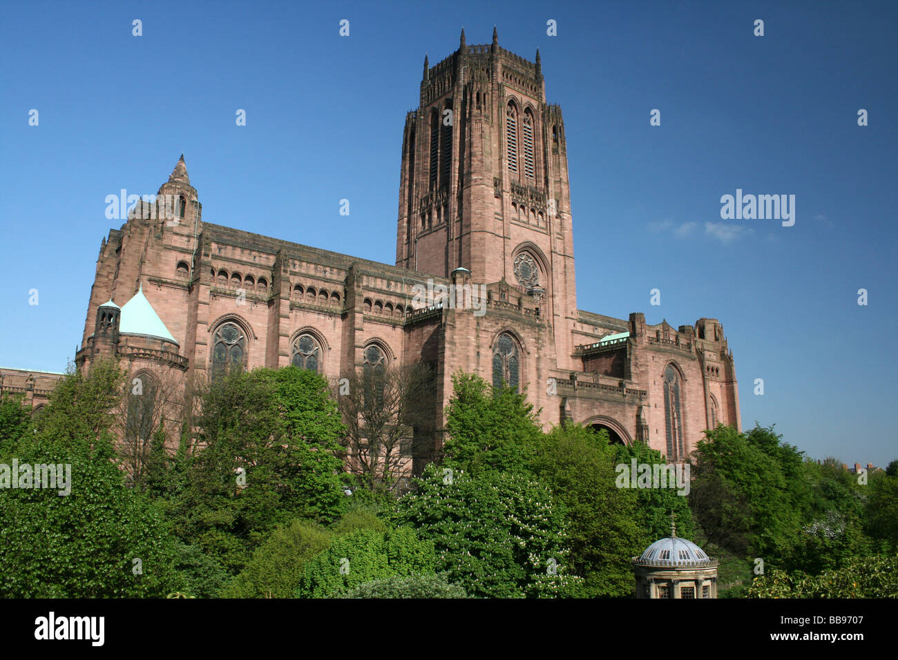 North Elevation Of Liverpool Anglican Cathedral, Merseyside, UK - Stock Image