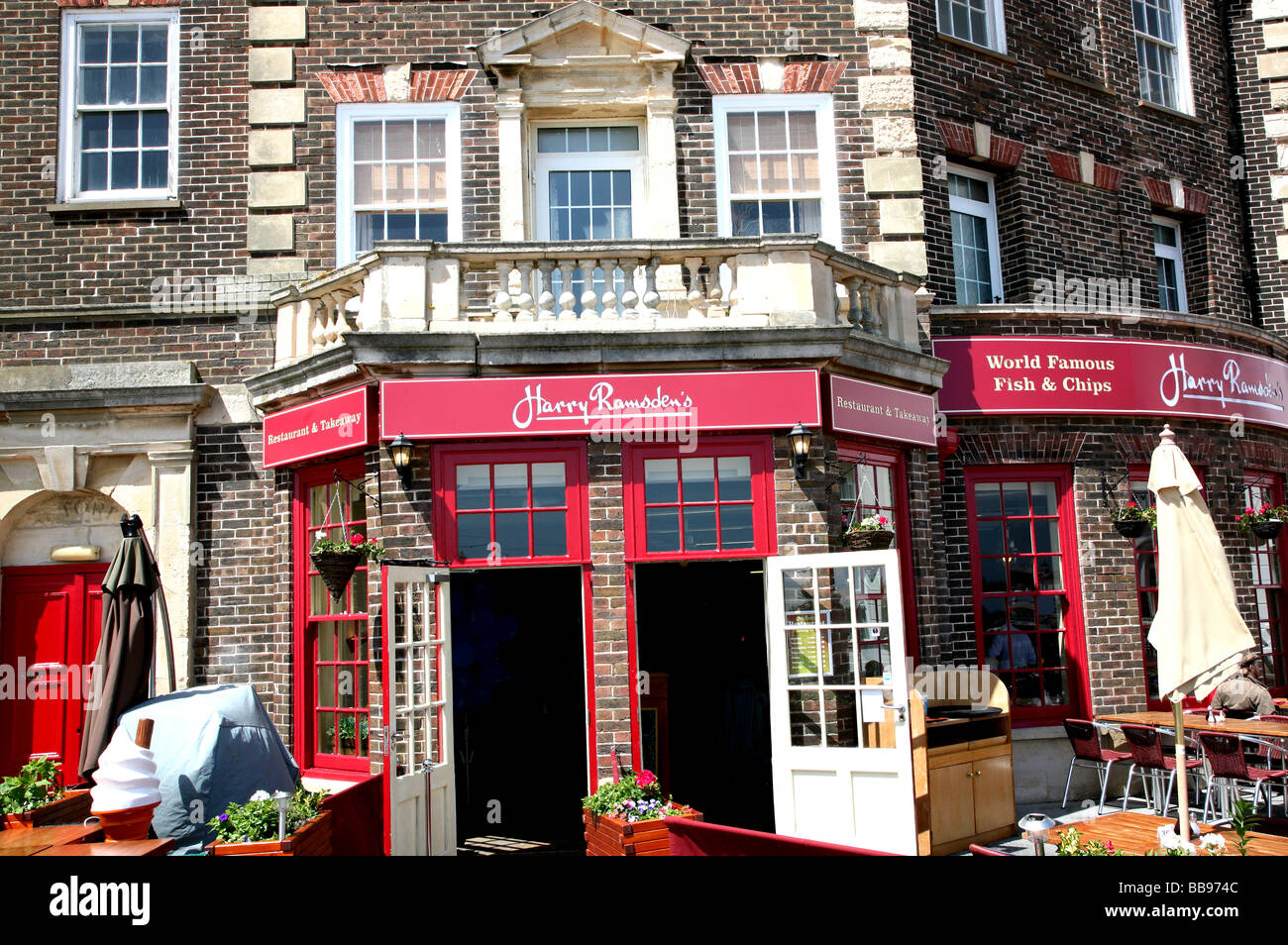 Harry Ramsden's fish chips Eastbourne Sussex Stock Photo