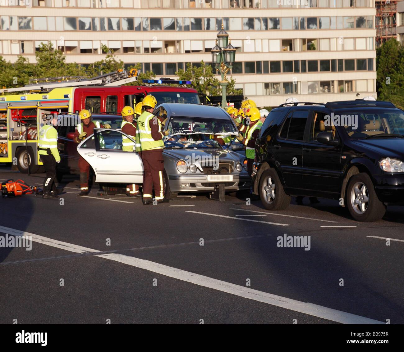 Car Crash In Westminster Stock Photos & Car Crash In