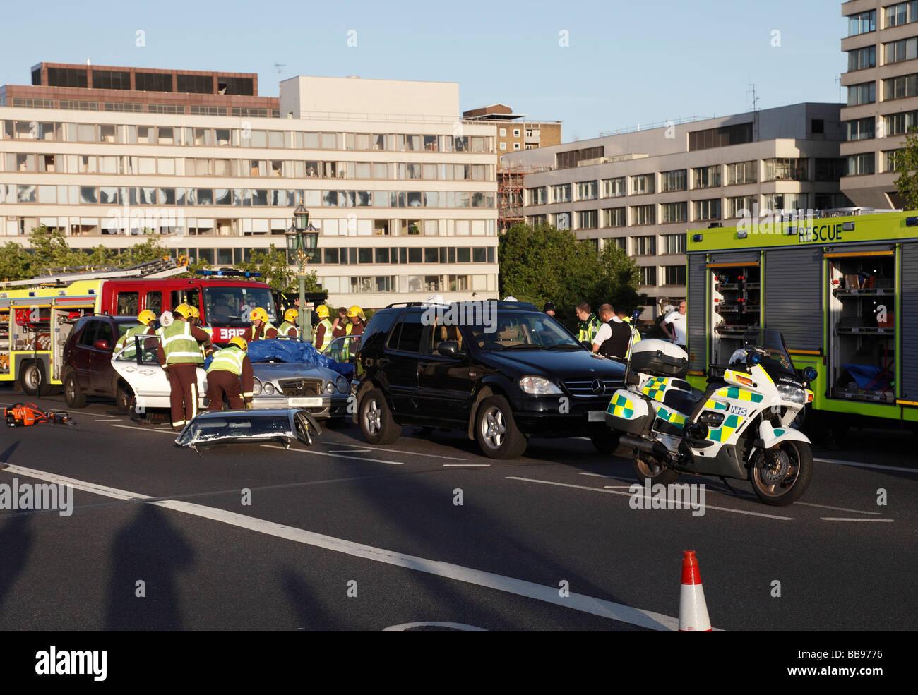 Motorbike Accident London Stock Photos & Motorbike Accident