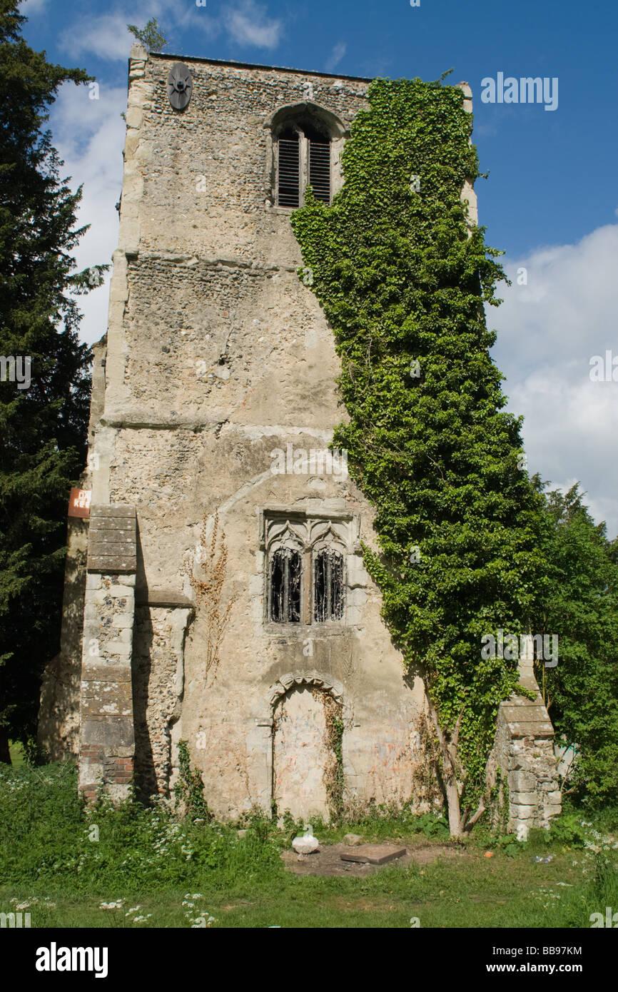 Thundridge Old Church - Stock Image