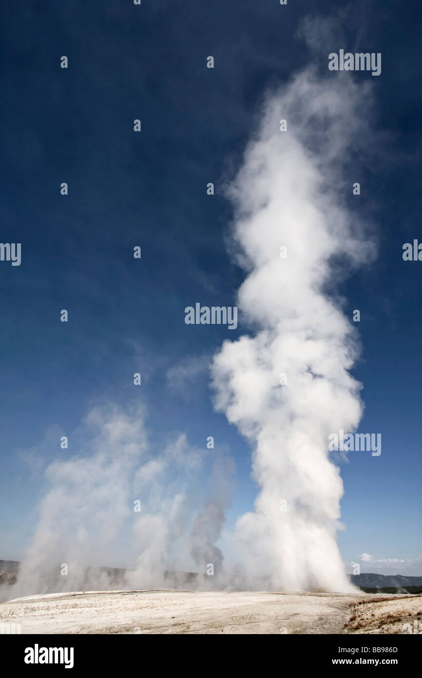 Clepsydra geyser erupting - Stock Image