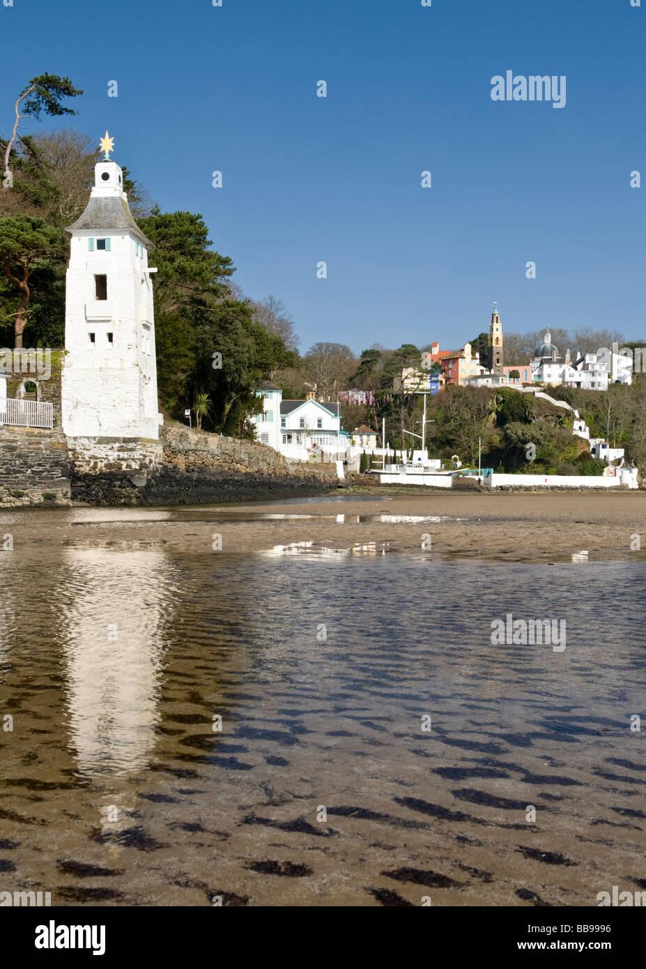 Village of Portmeirion, Near Porthmadog, Gwynedd, North Wales, UK Stock Photo