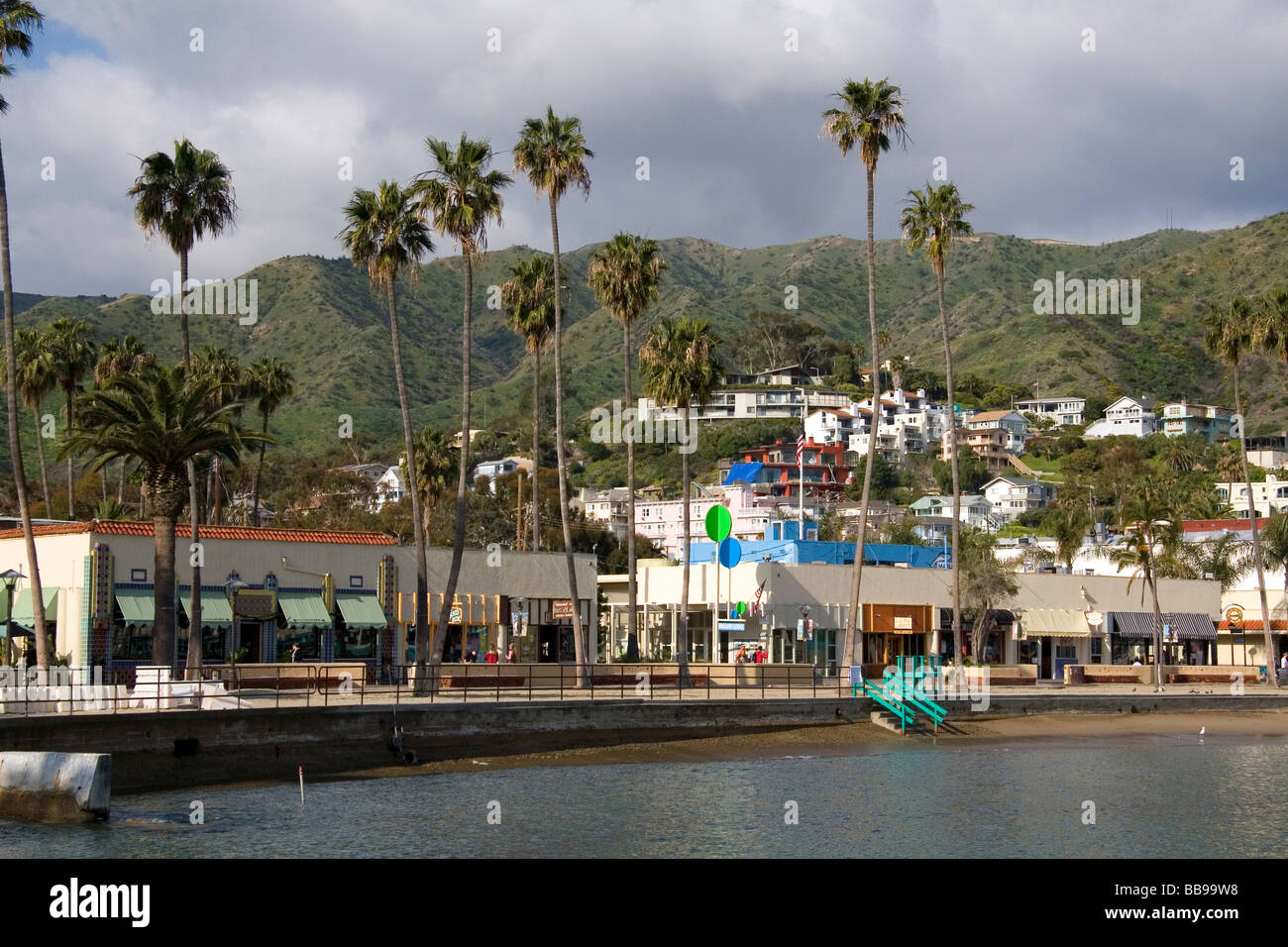 Downtown Avalon on Catalina Island California USA - Stock Image
