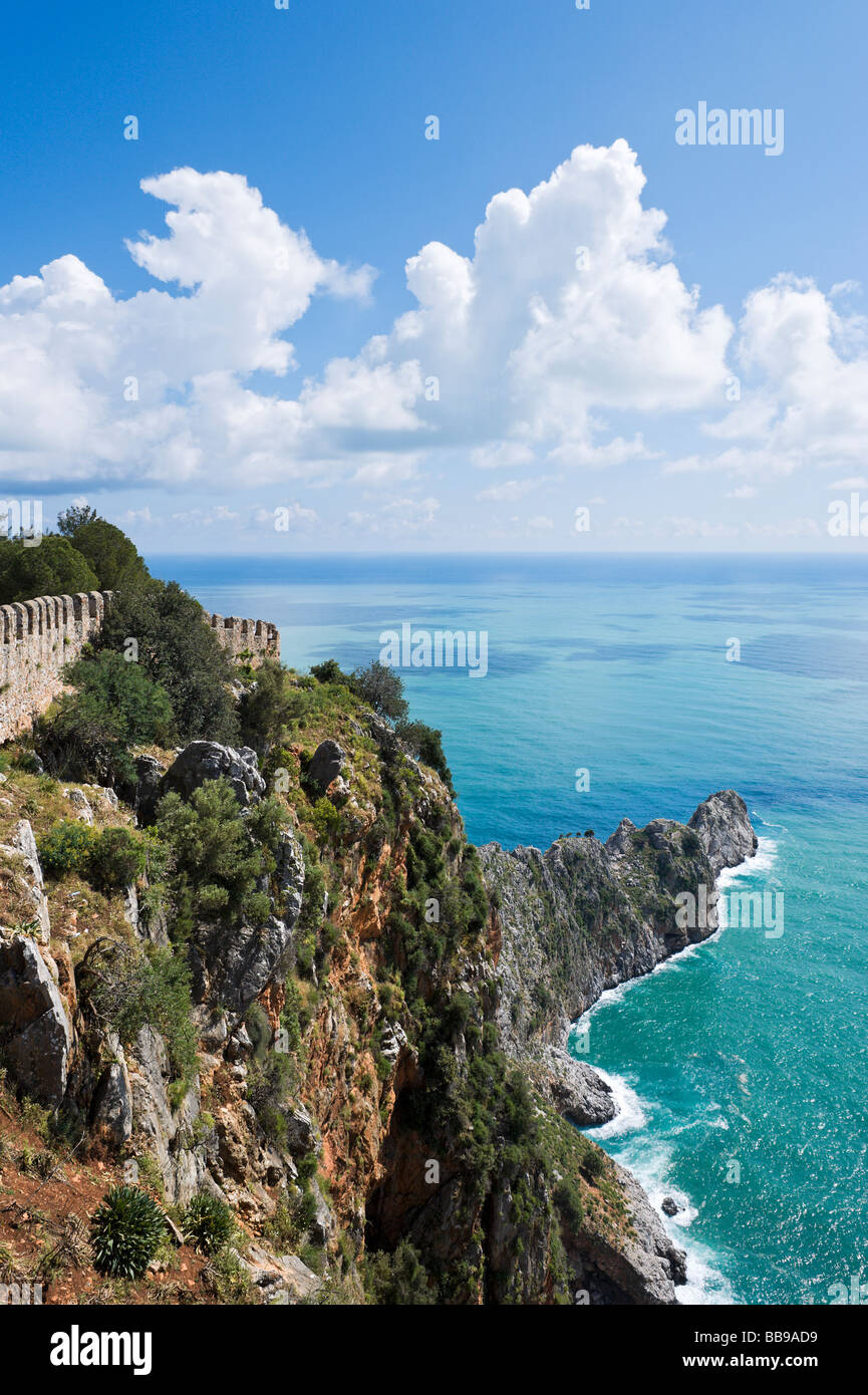 View from the Inner Castle (Ic Kale), Alanya, Mediterranean Coast, Turkey - Stock Image
