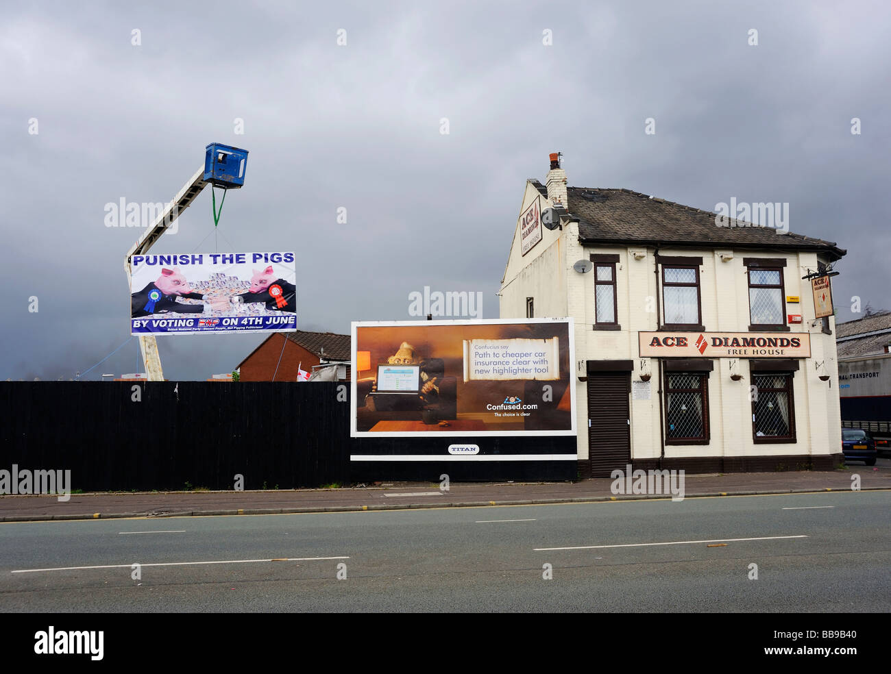 Ace of Diamonds on Oldham Road, Miles Platting, Manchester - Stock Image