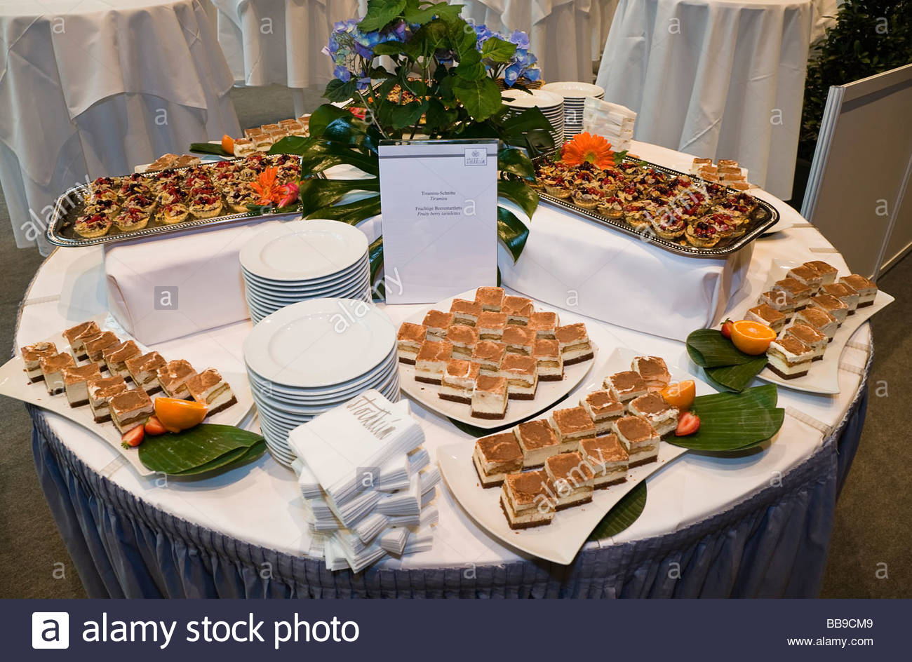 dessert buffet table food tiramisu fruit cookies eating canape stock photo 24179129 alamy. Black Bedroom Furniture Sets. Home Design Ideas
