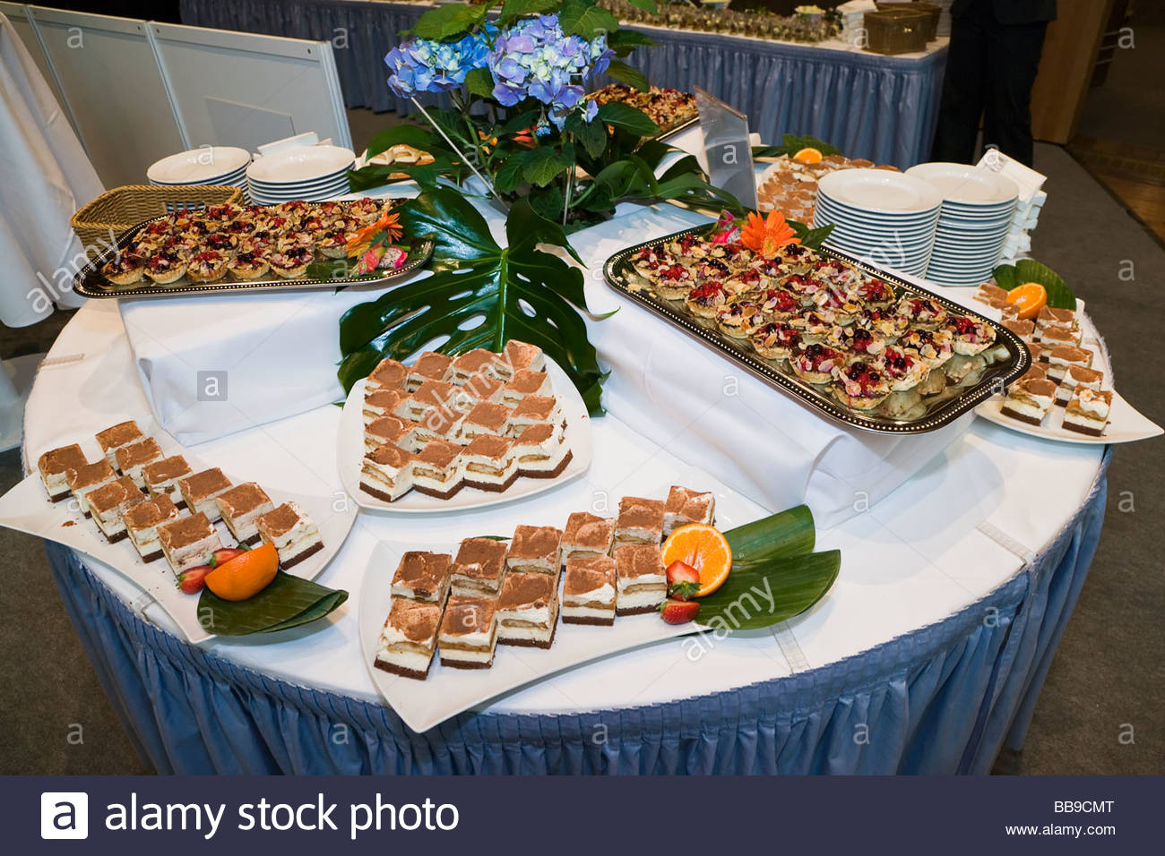 dessert buffet table food tiramisu fruit cookies eating canape stock photo 24179144 alamy. Black Bedroom Furniture Sets. Home Design Ideas