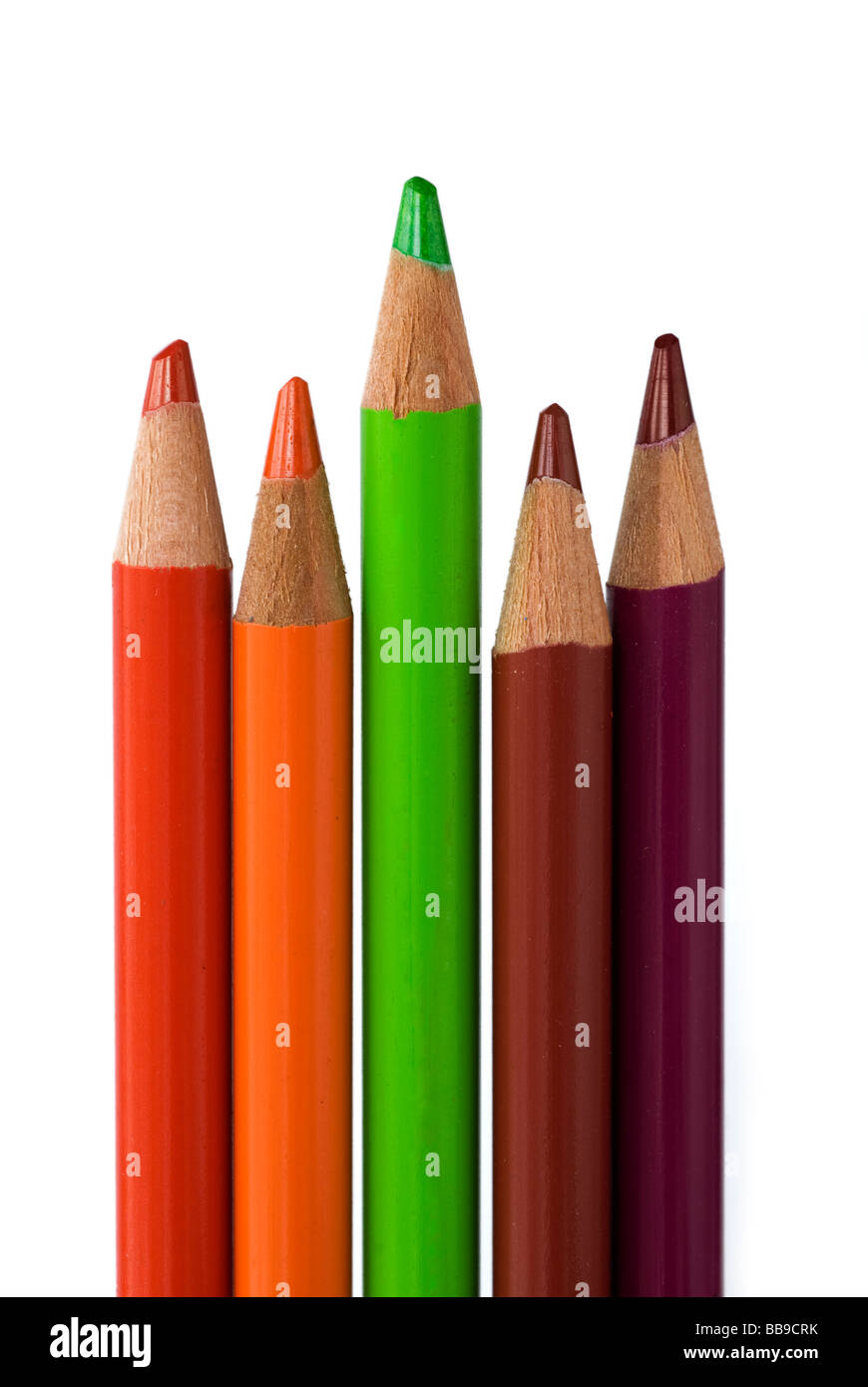 colored pencils, decision making - Stock Image