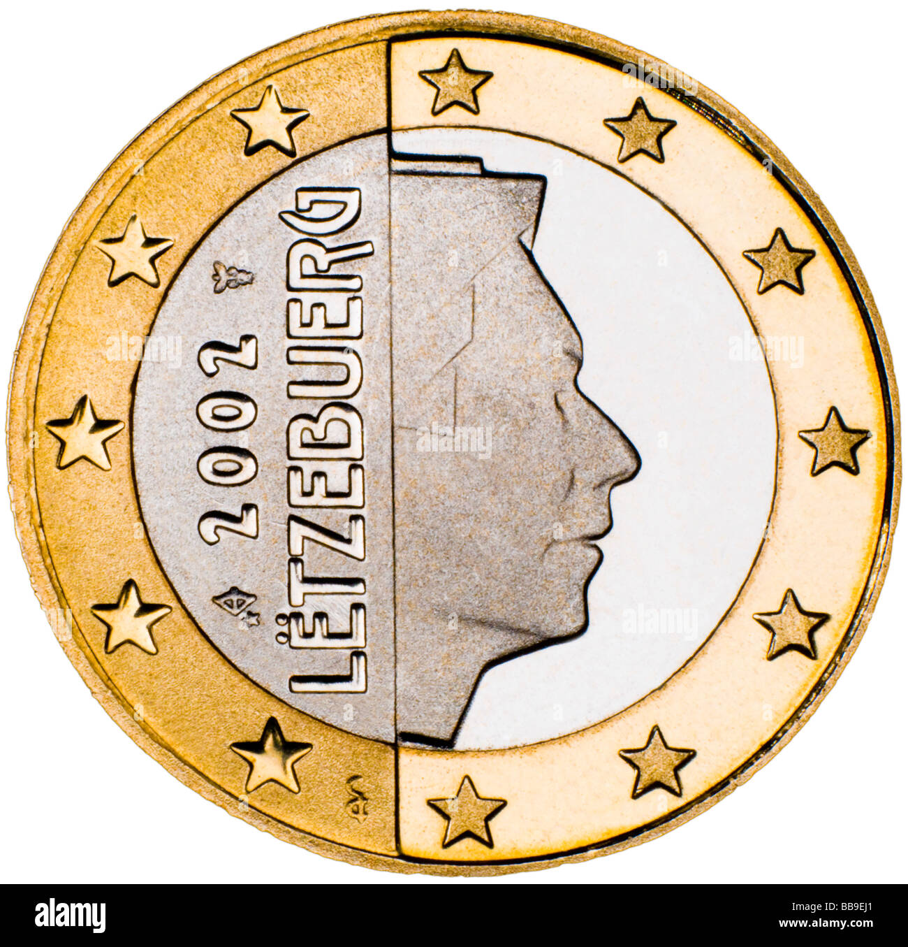 Luxemburg 1 Euro Coin reverse - Stock Image