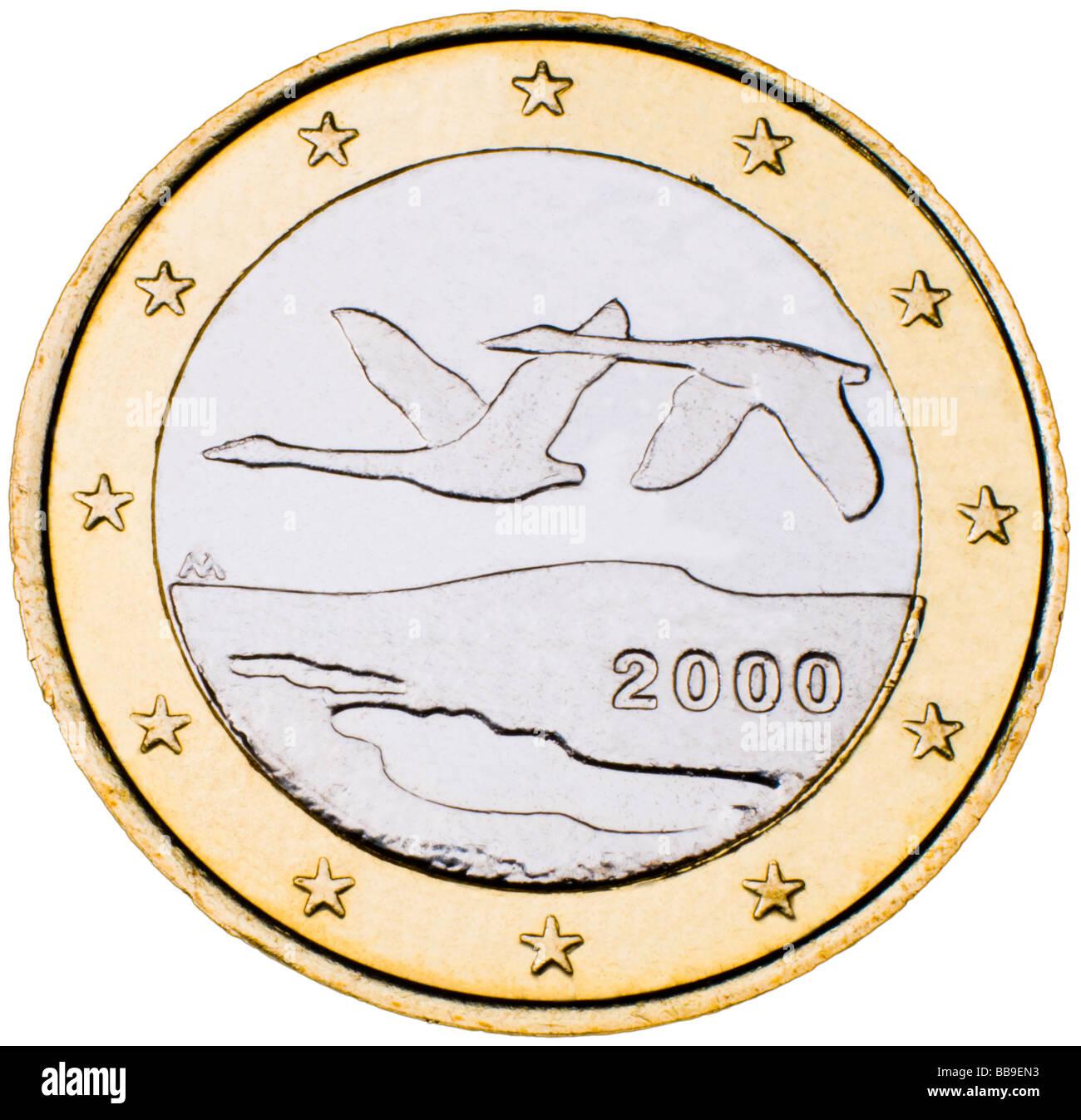 Finland 1 Euro Coin reverse - Stock Image