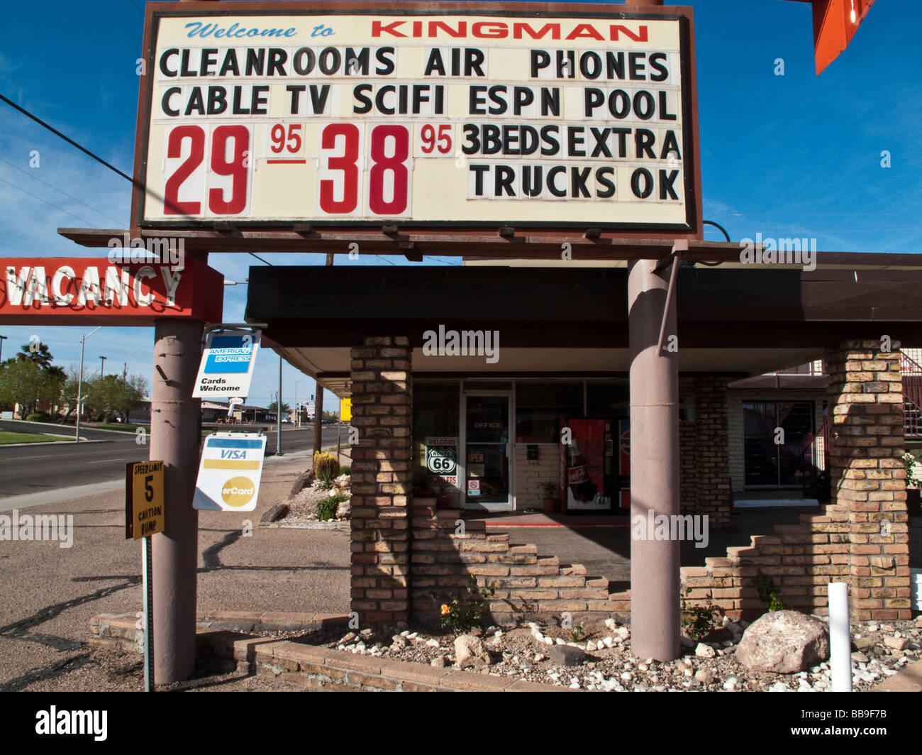 Motel, Kingman, Arizona - Stock Image