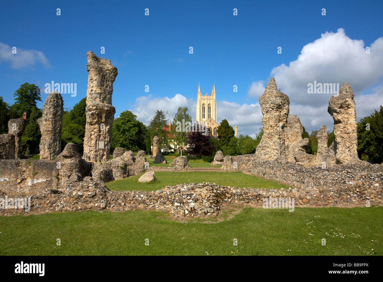 England Suffolk Bury St Edmunds Abbey Gardens St
