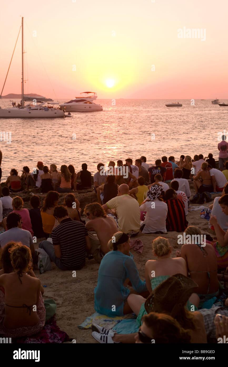 Cafe del Mar Ibiza Balearic Islands Spain - Stock Image