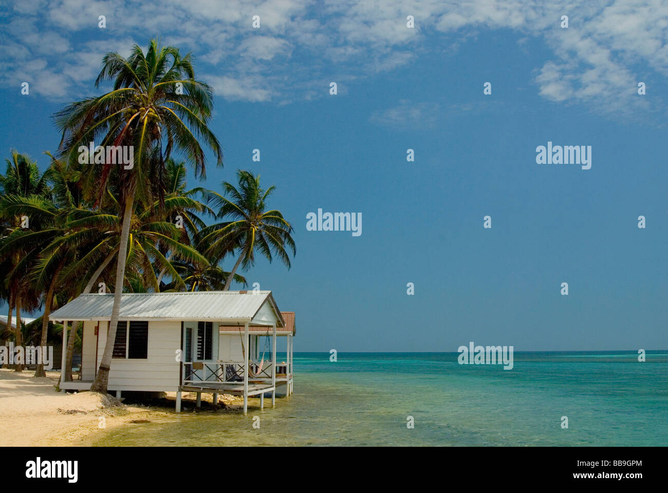 Tobacco Caye, Belize - Stock Image