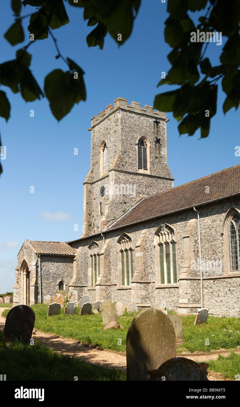 Norfolk East Ruston Saint Marys redundant church from the churchyard - Stock Image
