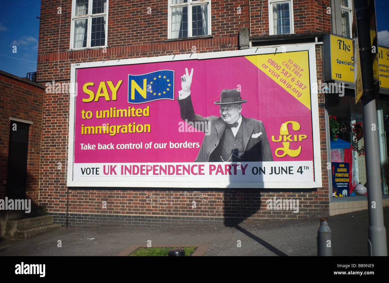 European election poster for the UK Independance Party - Stock Image