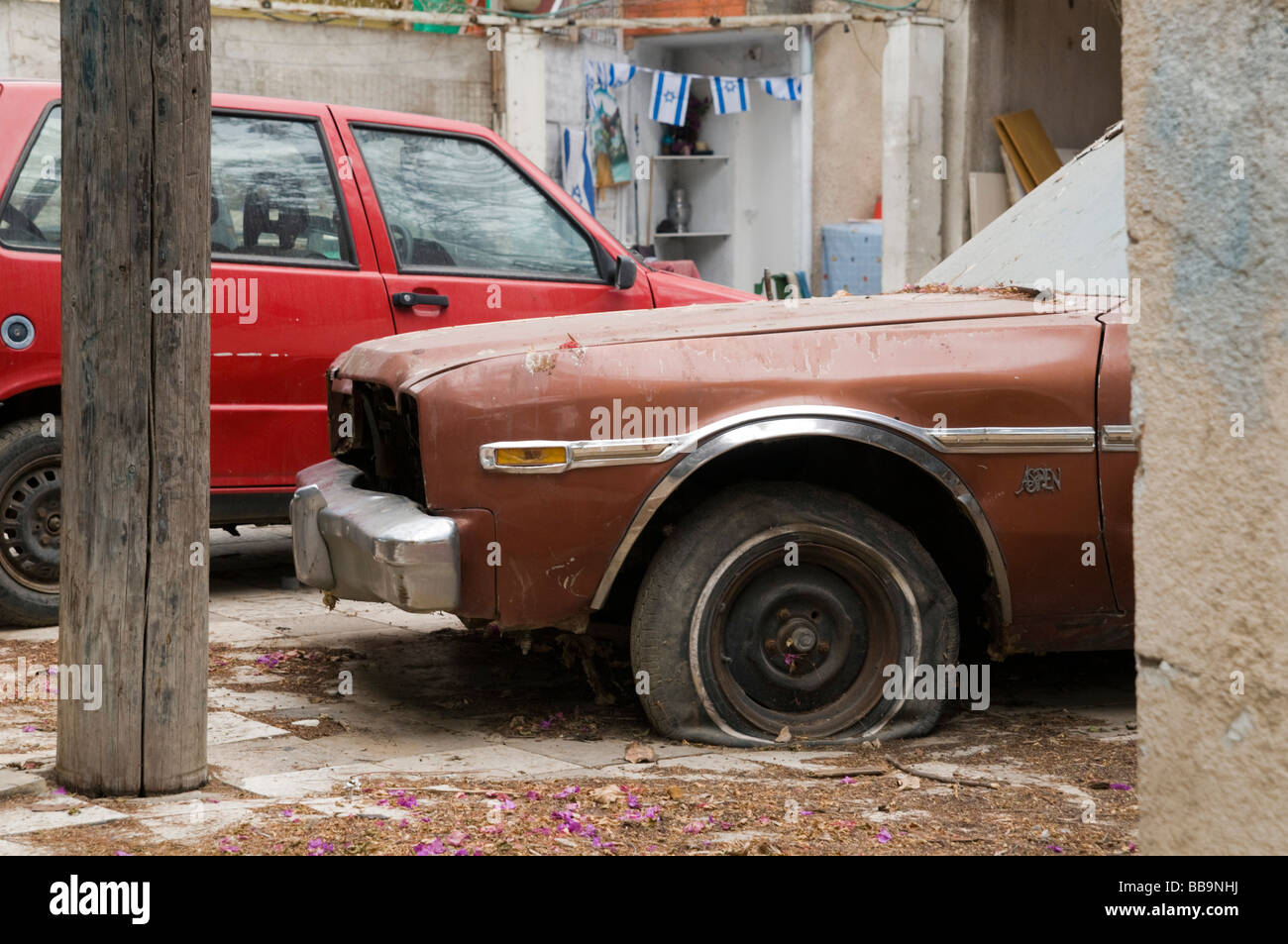 Old neglected car - Stock Image