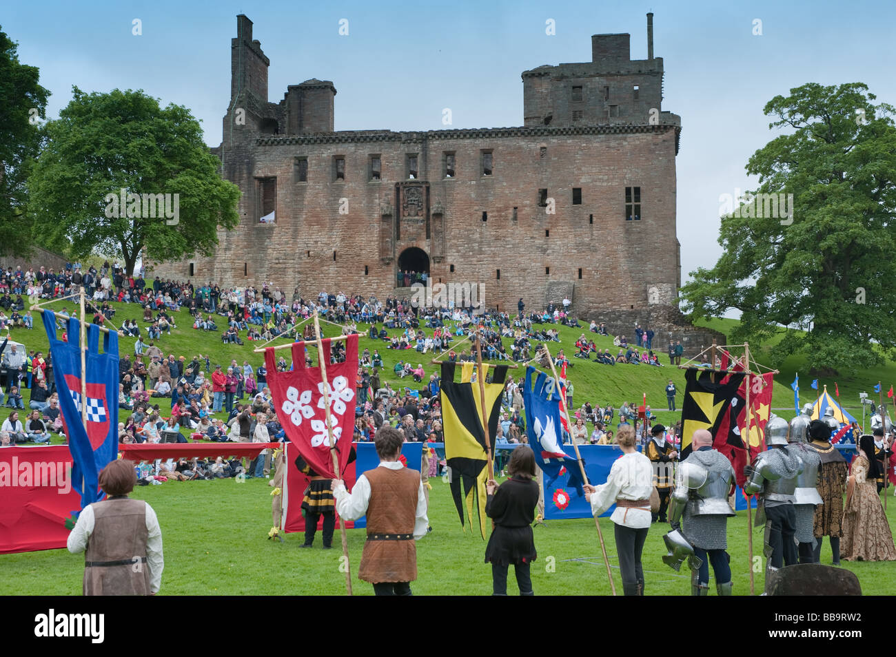 Homecoming Scotland Medieval Event at Linlithgow Palace, Scotland Stock Photo
