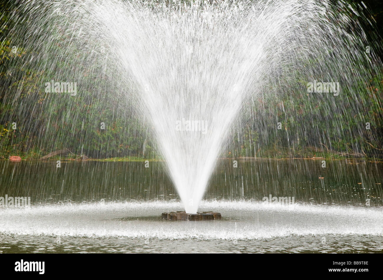 Water Fountain in Balfountain Ontario Canada - Stock Image