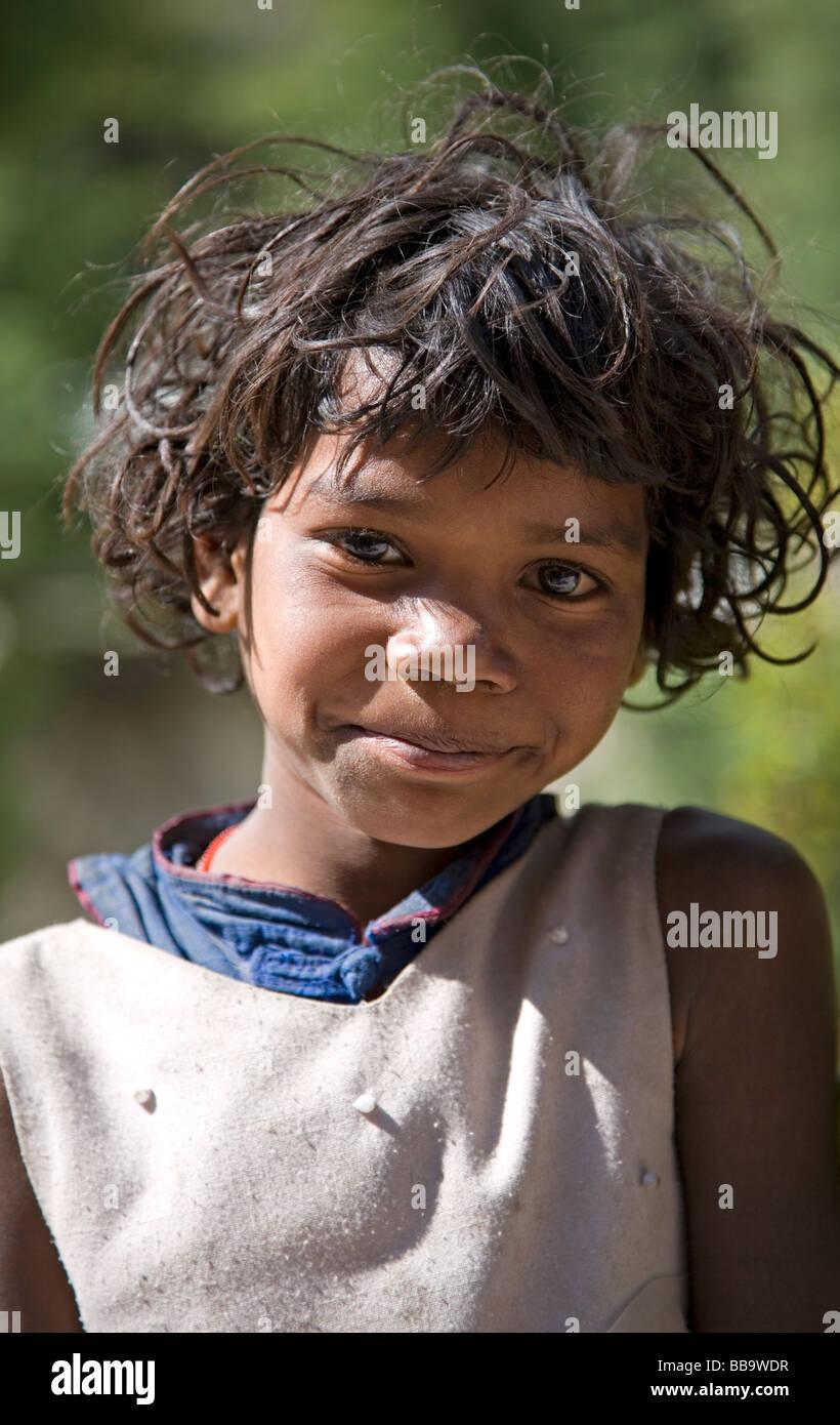 Indian girl. Gangotri. Uttarakhand. India - Stock Image