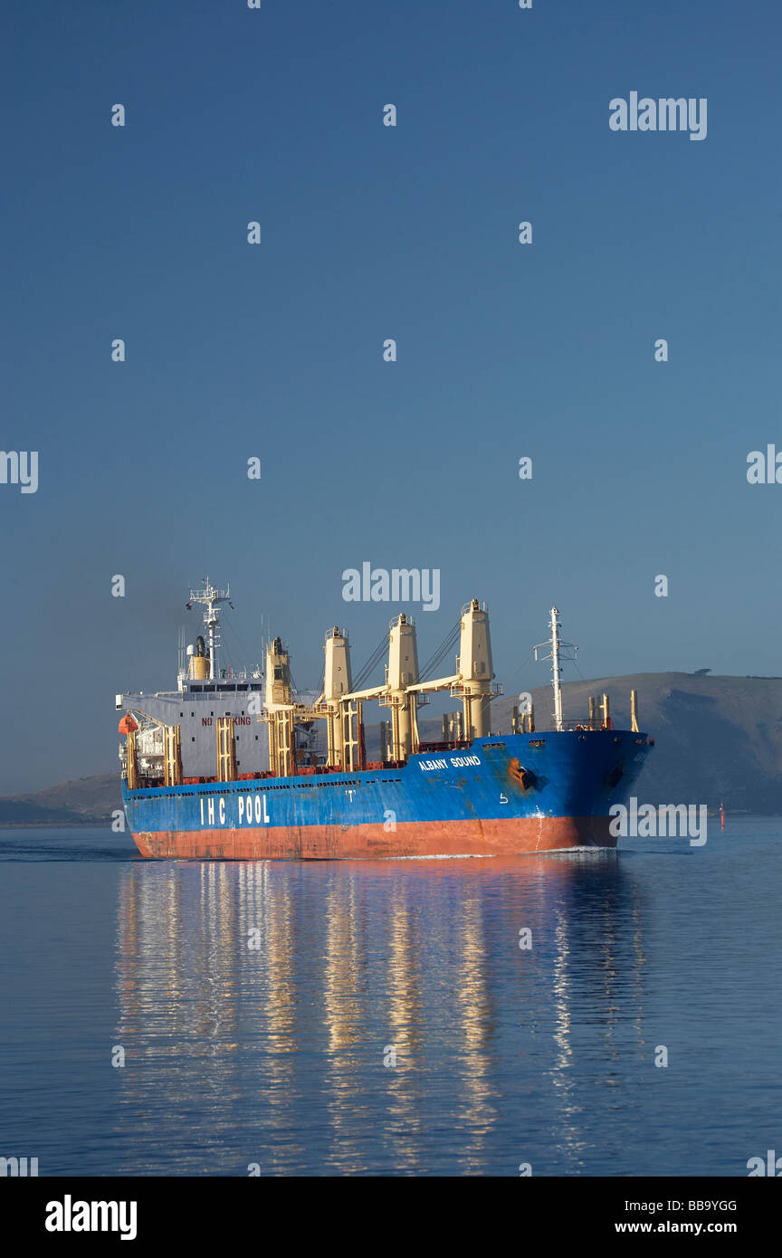 Albany Sound Bulk Carrier Ship Otago Harbour Dunedin Otago South Island New Zealand - Stock Image