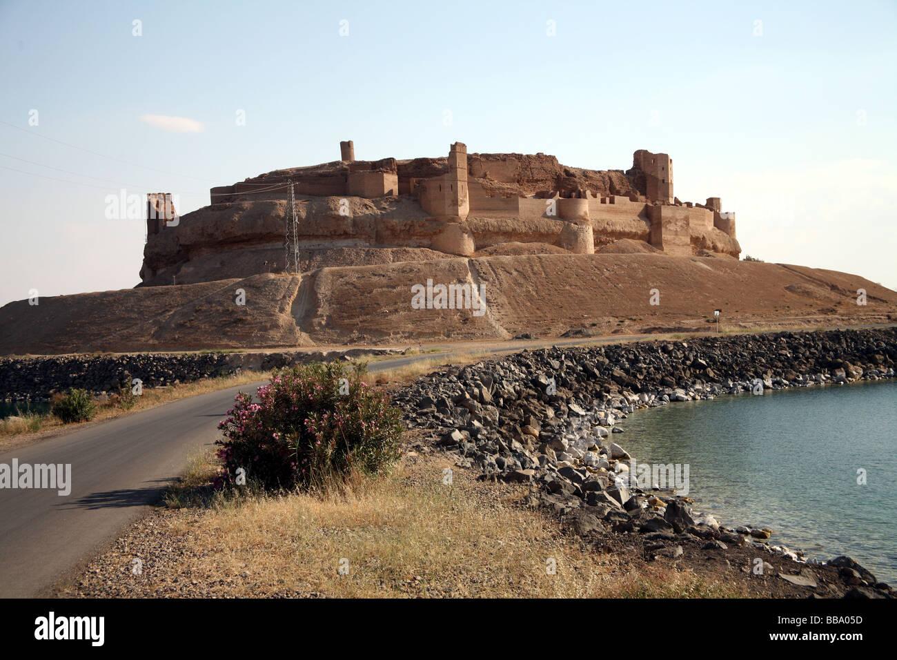 Qala' at ja' abar near lake Assad Syria - Stock Image