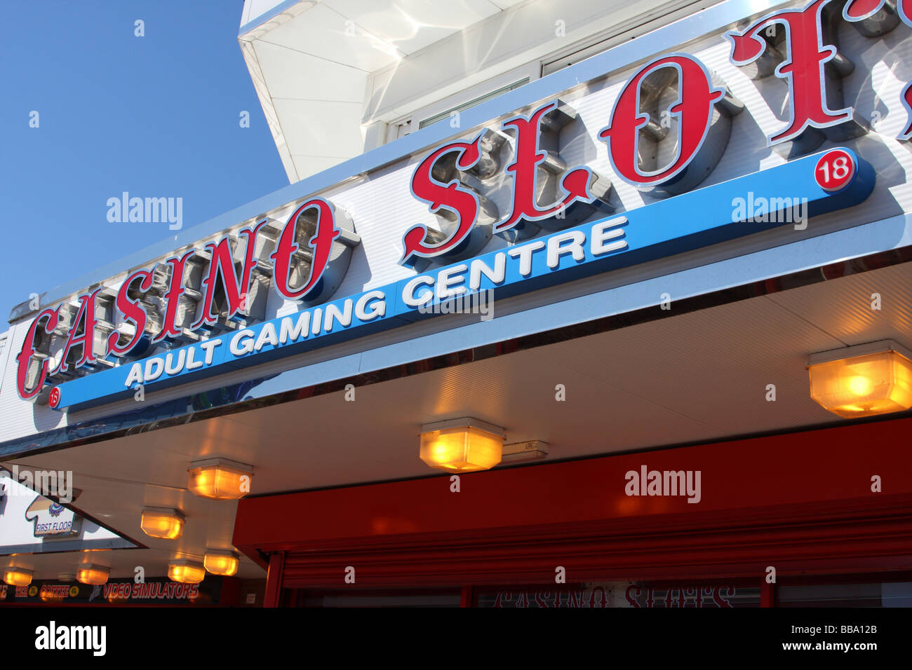 An adult amusement arcade in the U.K. - Stock Image