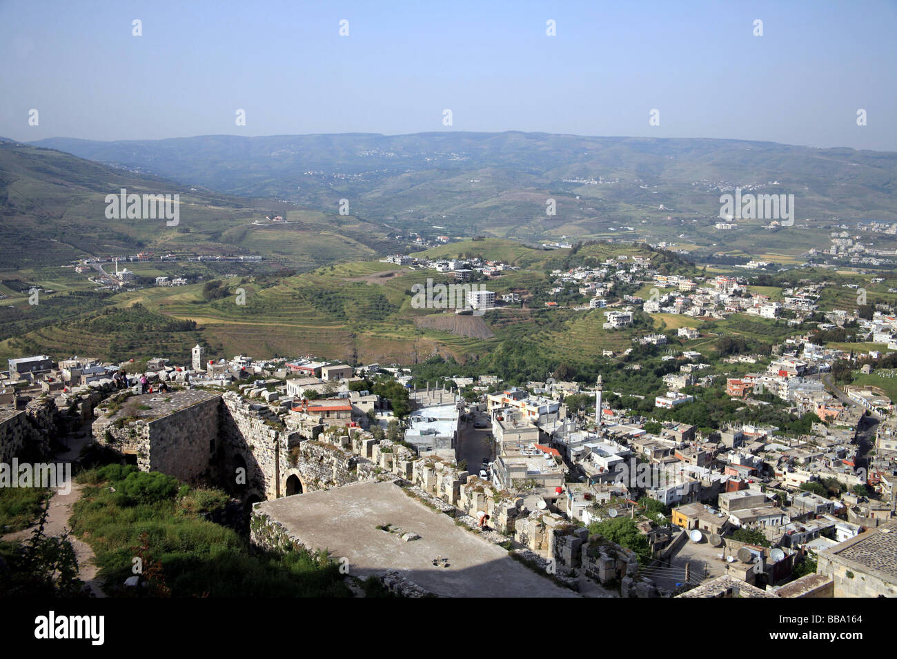 View from, Krak des Chevaliers, Syria - Stock Image