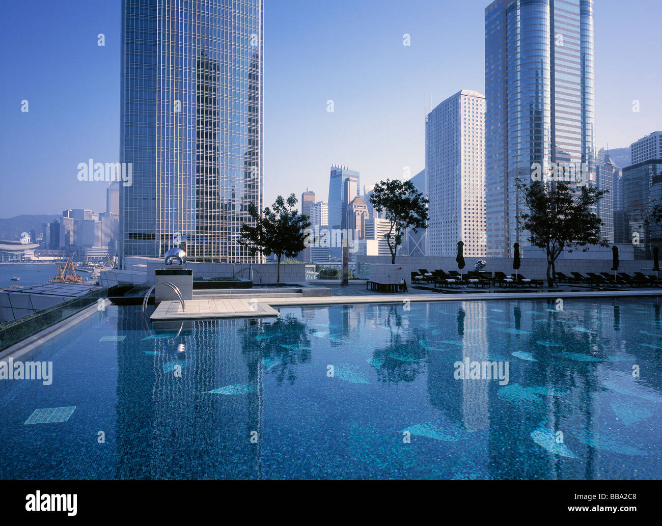 Four Seasons Hotel Pool In The Center Of Hong Kong Stock Photo 24193016 Alamy