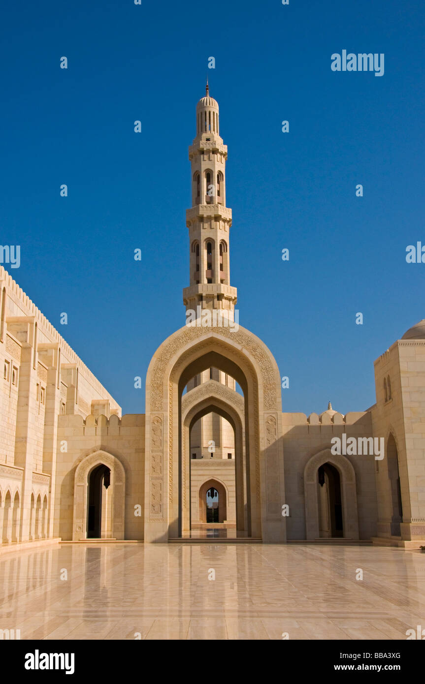 Sultan Qaboos Grand Mosque Muscat Oman - Stock Image