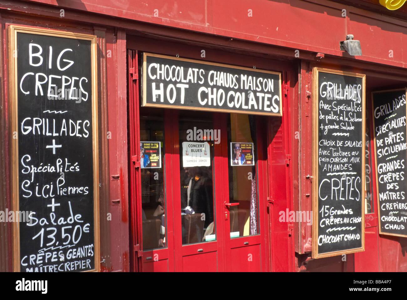 A restaurant in the Rue Mouffetard in Paris Stock Photo: 24194863 ...