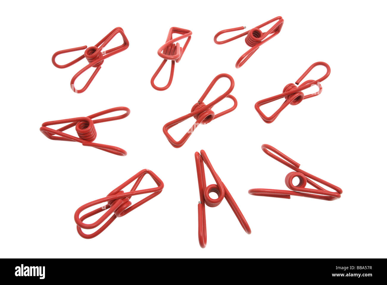 Metal Cothes Pegs - Stock Image