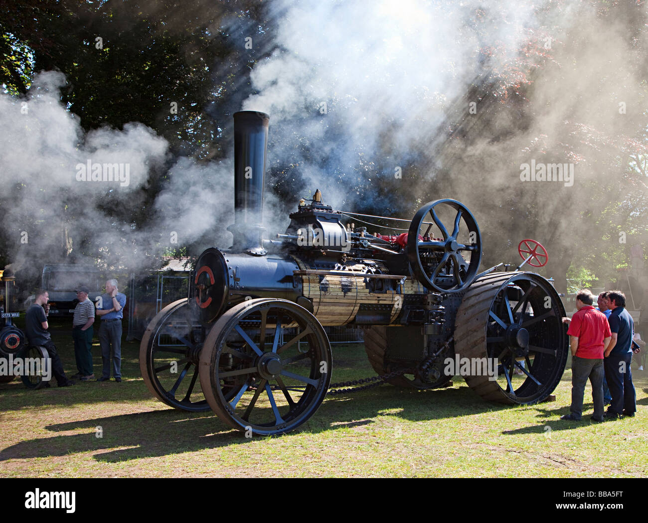 Traction engine at steam fair Abergavenny Wales UK - Stock Image