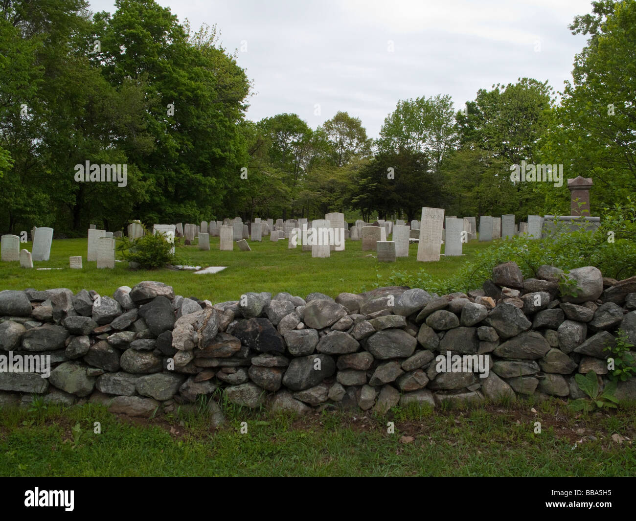 Westport Connecticut 17 May 2009 17th Century Cemetery - Stock Image