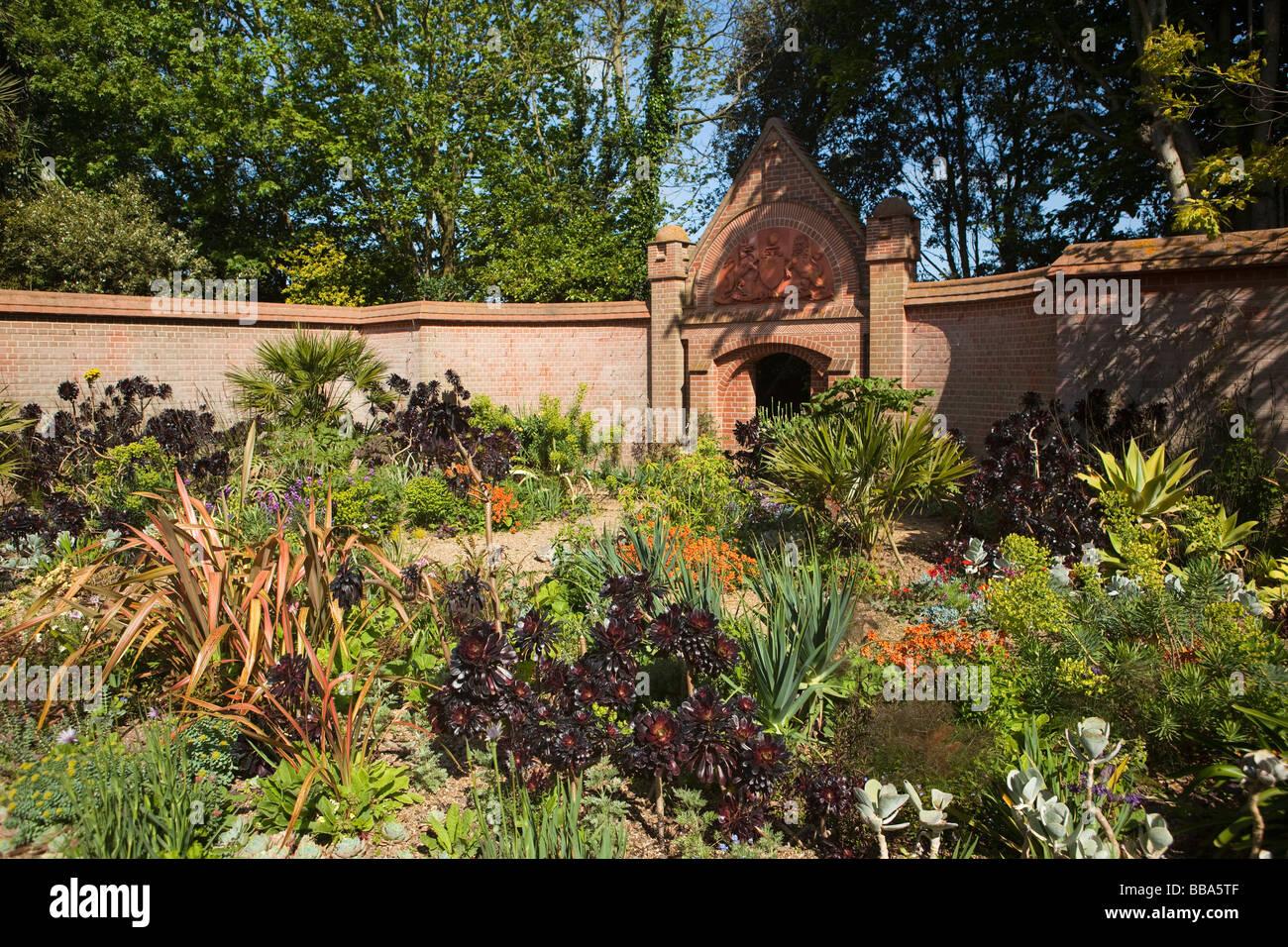 Norfolk East Ruston Old Vicarage Garden Entrance Court - Stock Image