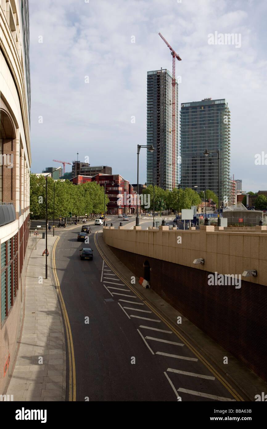 Canary Wharf construction - Stock Image