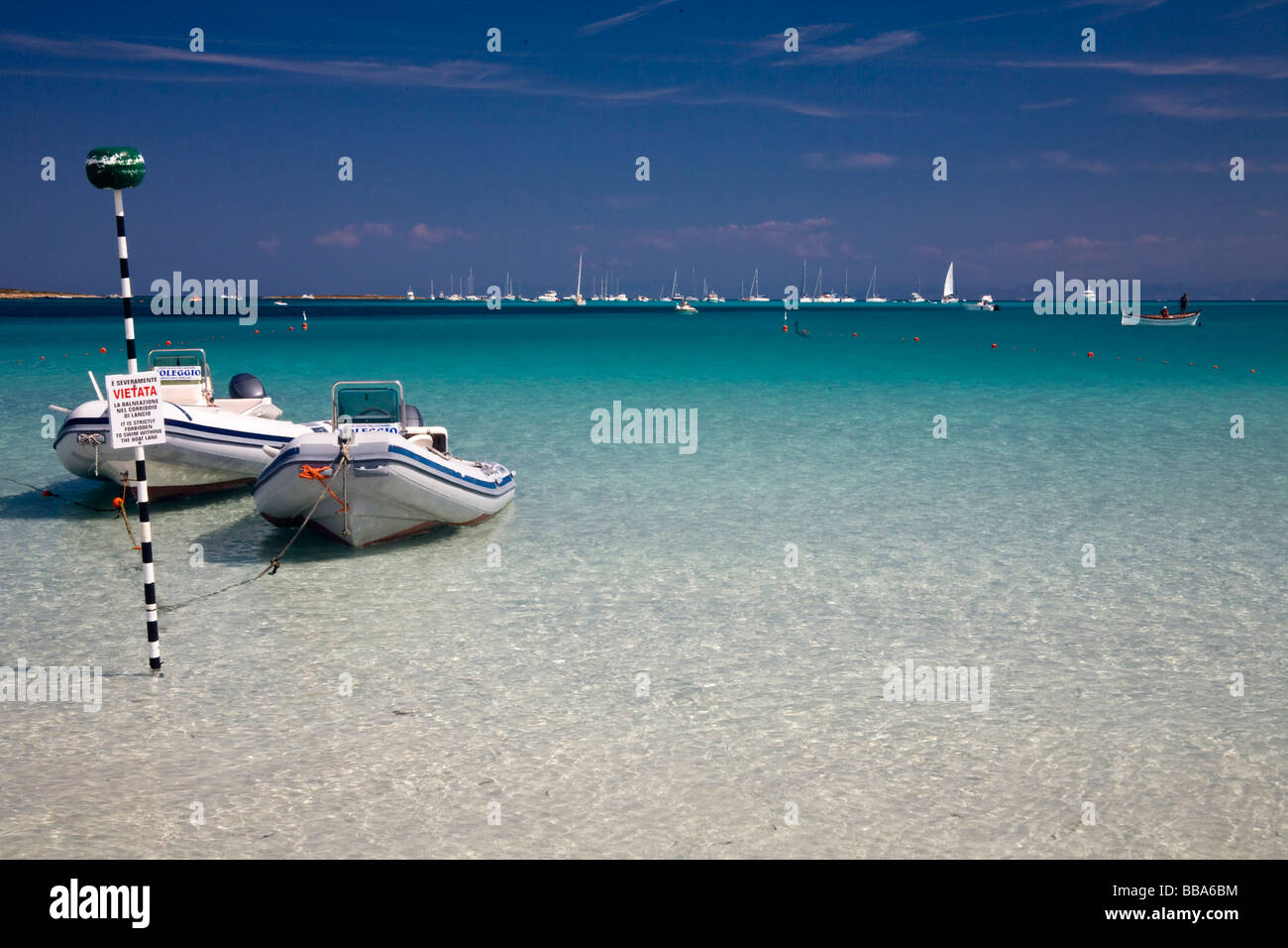 Beach of Stintino, Nurra region, province of Sassari, Sardinia, Italy Stock Photo