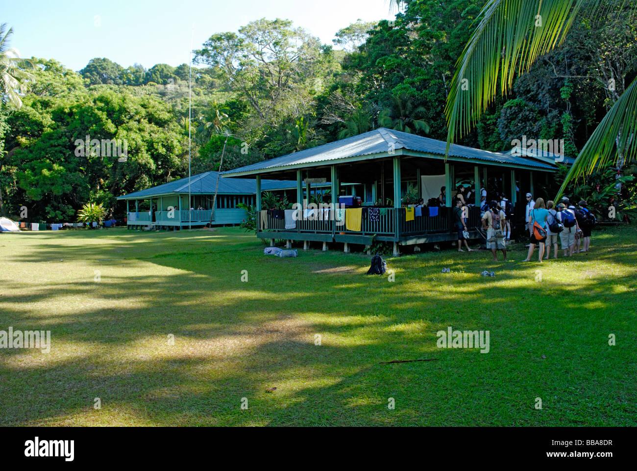 San Pedrillo Ranger Station, Corcovado National Park on the Osa Peninsula Costa Rica - Stock Image