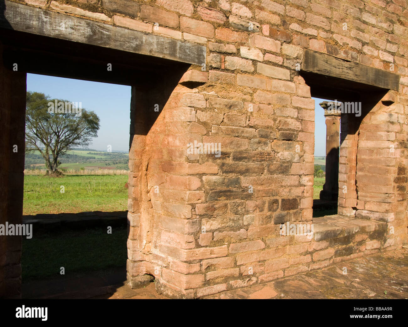 Paraguay.Jesuits Reductions.Reduction of Jésus.Remains of the workshops.UNESCO World Heritage Site. - Stock Image