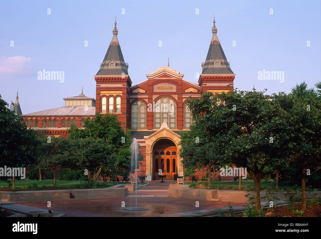 Arts and Industries Building of the Smithsonian Institution in Washington DC - Stock Image