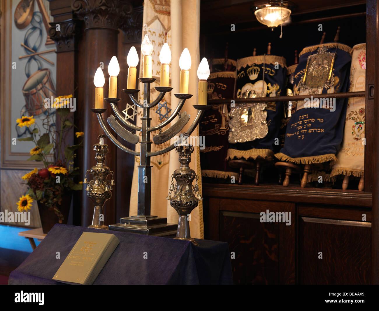 Jewish Synagogue interior - Stock Image