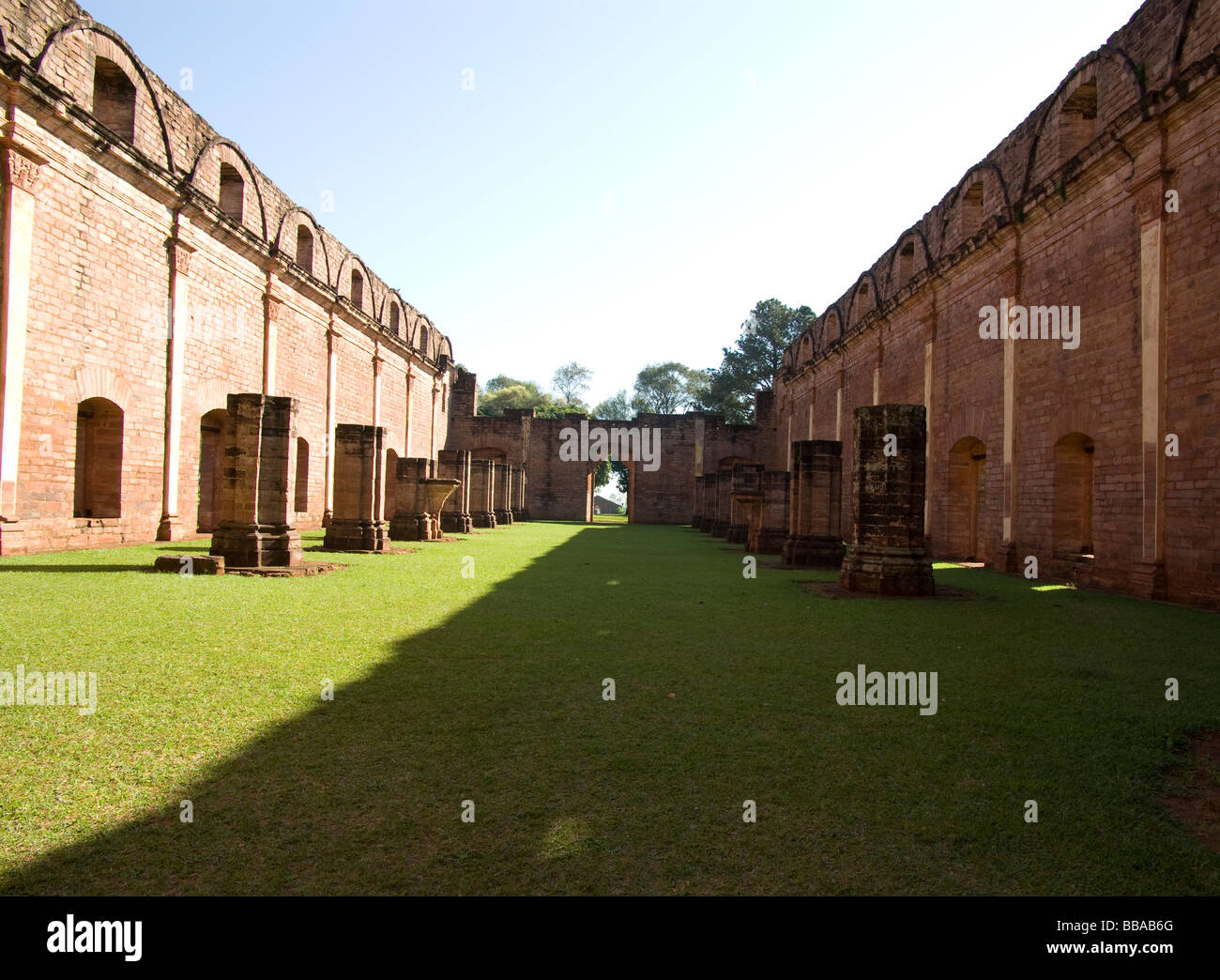 Paraguay.Jesuits Reductions.Church of Reduction of Jésus.UNESCO World Heritage Site. - Stock Image