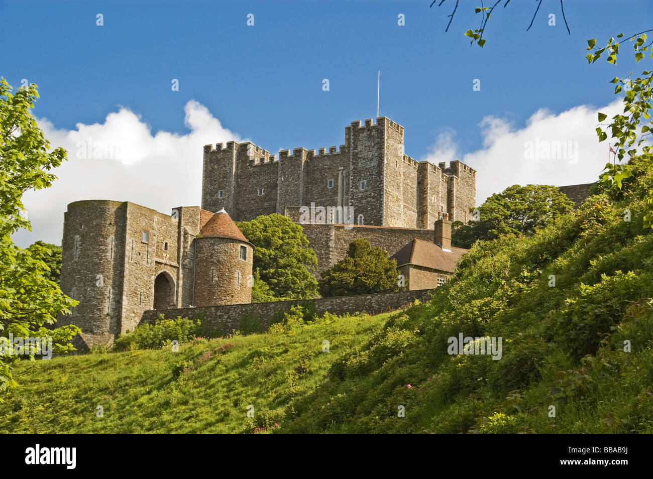 Dover Castle, Dover, Kent, South England, England, Great Britain Stock Photo