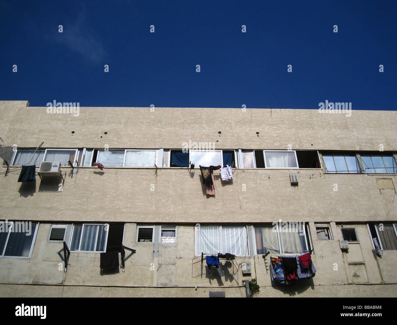 Apartment block in southern Tel Aviv Israel Stock Photo