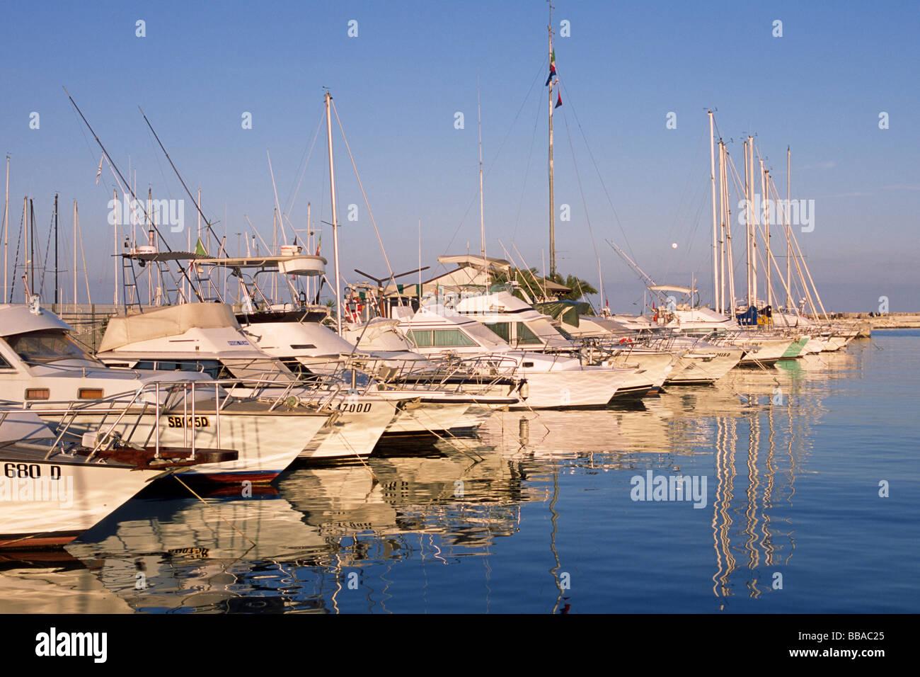 italy, le marche, san benedetto del tronto, boats Stock Photo