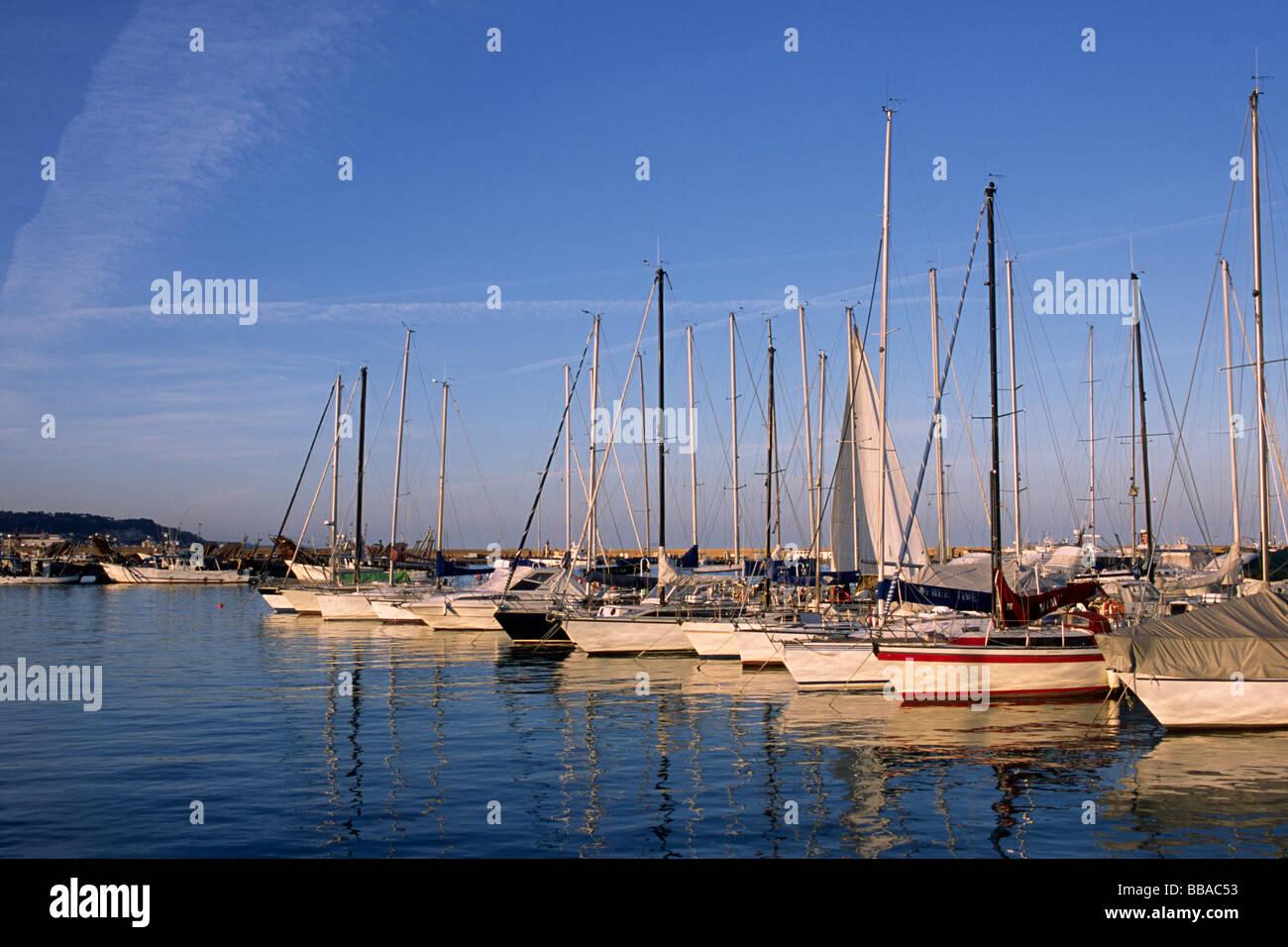 italy, le marche, san benedetto del tronto, port Stock Photo