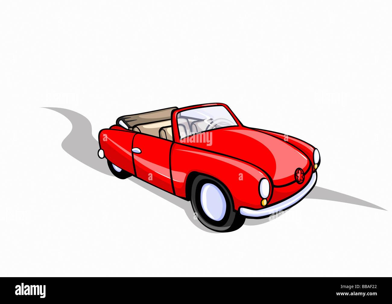 A convertible car - Stock Image